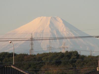 ふじみ野市からくっきりとした富士山が見られる