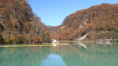 隠れた紅葉スポット・・・草津温泉品木ダム湖