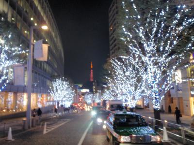 東京散策2009 クリスマスイブ けやき坂~麻布十番~赤羽橋~芝公園
