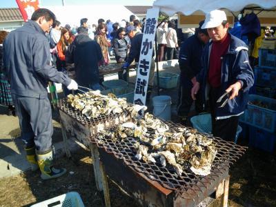ぐうたら夫婦の「宮城・松島・カキ祭りin磯島」