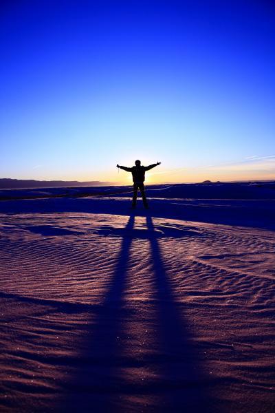 朝のリレー White sands
