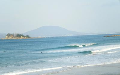 年初めの波のり 福岡のいつものポイント