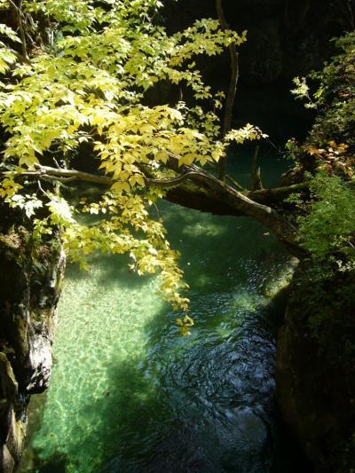 秋晴れぶらり紅葉①~岩見峡~
