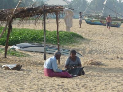 スリランカ(ゴール)2010・・・①早朝の浜辺 ニゴンボ