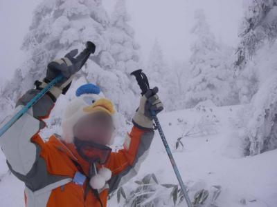 冬の蔵王で雪まみれ! 2にちめ。