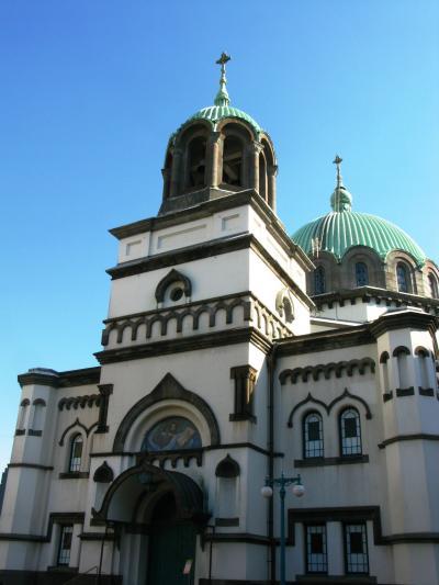 ニコライ大聖堂を仰ぎ見て ☆ニコライの鐘=名曲を思い出し