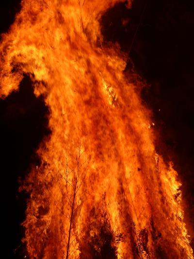 ○鹿児島新年のある1日「鬼火」ダ~炎~炎~燃えつくせ!and「花尾神社」