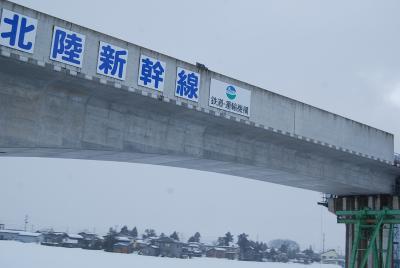 北陸新幹線の架設風景