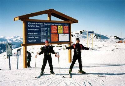 ウィスラー・ブラッコムでスキー