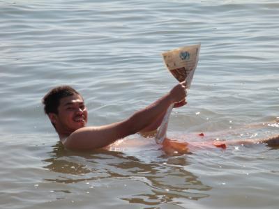 やってきたぜ!! 2008 ヨルダン 『 死海(DEAD SEA)の水メッチャ塩辛い!!浮く♪浮く♪浮いたぜ!! 』 IN 死海(DEAD SEA)