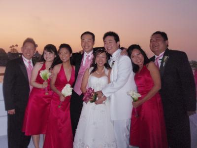 ロスで結婚式に参列