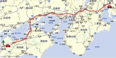 2010年1月31日・3泊4日・奈良→淡路島→松山
