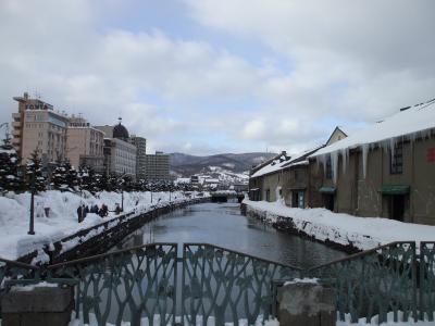 真冬の小樽運河