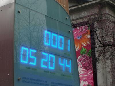 聖火が町にやってきた! いよいよ明日オリンピック開幕です。