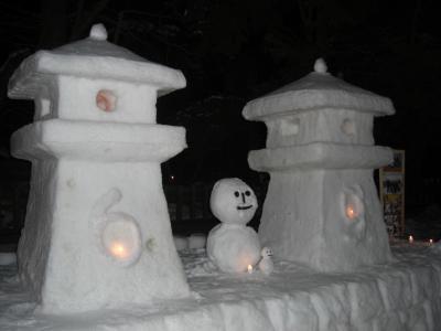 偶然・・・米沢雪灯篭祭りの日に米沢出張