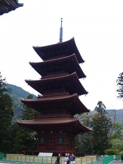 身延山久遠寺五重塔と奥の院