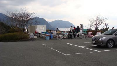 恋人岬で結婚記念撮影会・・・バレンタインの日