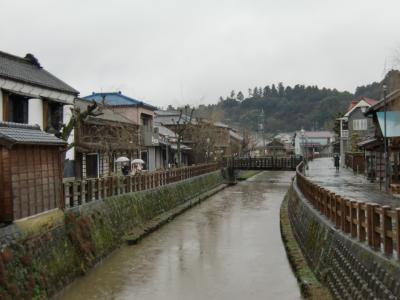 雪の日に小江戸 佐原を散策
