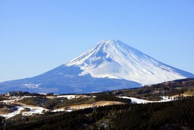 熱海梅園からの帰りに富士山