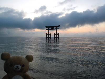 琵琶湖一周の旅 近江牛食べたクマー (高島~長浜)