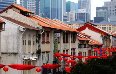 Singapore  リリーに会いたくて 普段着のシンガポール⑧旧正月の名残りで赤いチャイナ・タウン