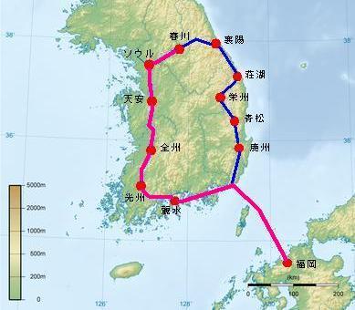 1991年 韓国一周 自転車旅行 【後編:春川~福岡】