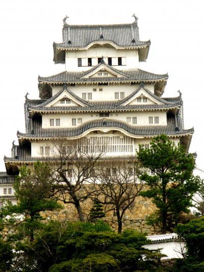 姫路城-1 国宝姫路城は大改修の準備中 ☆西の丸から見学