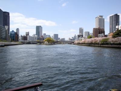 大阪大川・リバークルーズ船「ひまわり」で桜ランチクルーズ