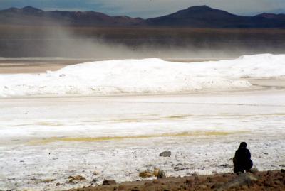 心震えるSalar de UYUNI(ウユニ塩湖)ツアー Part.5 <Laguna Verde(ベルデ湖)で見た塩の吹雪>