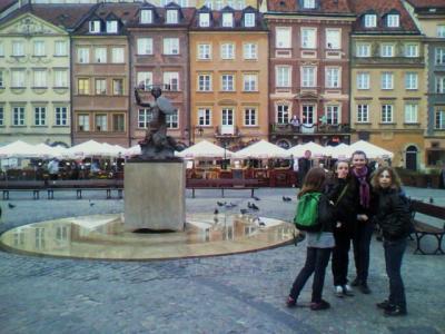 ワルシャワ旧市街市場広場のフキエルでポーランド料理を堪能する