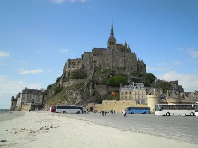春の日のモンサンミッシェル(Mont Saint Michel)
