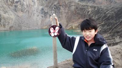 有珠山ジオパークへ有くん珠ちゃんを見に行くぜよっ(≧∀≦)ノ