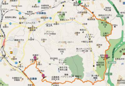 鎌倉アルプス ハイキングコースを走る旅