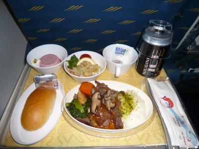 2010年4月 パプアニューギニア旅行 その8:ニューギニア航空の機内食