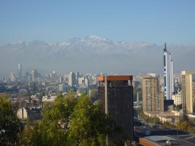 18日間世界一周(11)南米4ヶ国目チリ・サンチアゴ市内巡りでアンデス山脈堪能