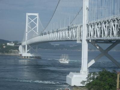 千畳敷から見る大鳴門橋。日本の技術の美しさ。