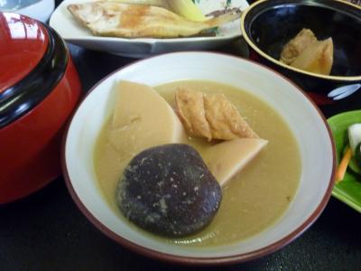 湯田川温泉の孟宗汁
