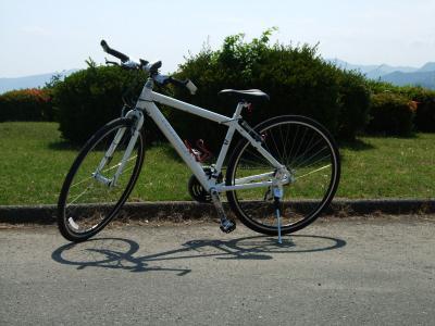 自転車を変えて初乗り