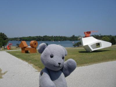常盤公園を遊ぶ その2~石炭と彫刻とサボテン編持世寺温泉付き~