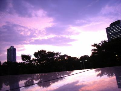 ある夕方の新宿。劇的に美しい空に出会った。