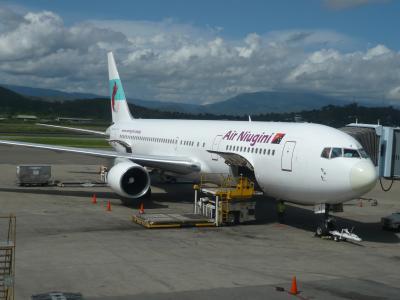 2010年4月 パプアニューギニア旅行 その37:ニューギニア航空で成田へ①