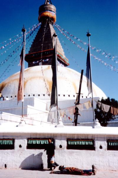 仏教寺院 「SWAYAMBHUNATH」で見た、両目がある世界最大の仏塔