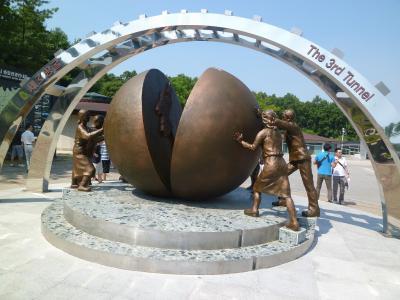 韓国再訪7 第3トンネル、都羅展望台、都羅山駅