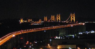 宇多津町 天使の住む丘 サン・アンジェリーナ展望台から瀬戸大橋の夜景を楽しむ