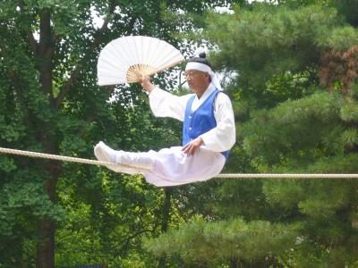 韓国再訪14 韓国民俗村5(綱渡り)