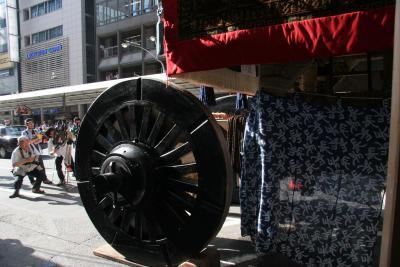 京都「祇園祭」の山鉾を撮る。