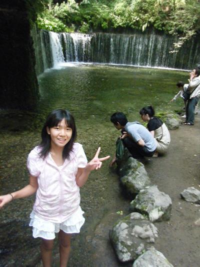 軽井沢 旧軽井沢&白糸の滝&浅間火山博物館