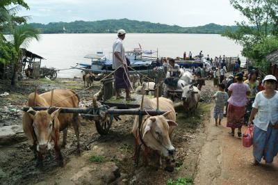 ミャンマーの旅 ピヨ(Pyay)の町なみ。