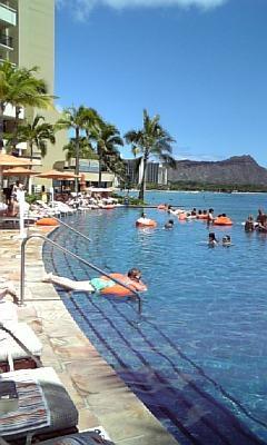 2010年8月 ~ ハワイ(ホノルル・ワイキキ)旅行 ⑦ ルックJTBラウンジとインフィニティ・エッジ・プール ~