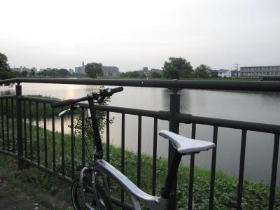 ビアンキFRETTAで夕方の越谷元荒川を走る☆2010/08/15